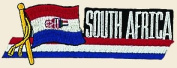 South Africa Logo Embroidered Iron on or Sew on Patch