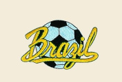 Soccer Ball Brazil Logo Embroidered Iron on or Sew on Patch