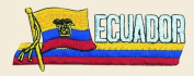 Ecuador Logo Embroidered Iron on or Sew on Patch