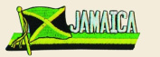 Jamaica Logo Embroidered Iron on or Sew on Patch