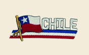 Chile Logo Embroidered Iron on or Sew on Patch