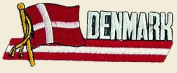 Denmark Logo Embroidered Iron on or Sew on Patch