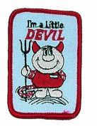 I'm a Devil Logo Embroidered Iron on or Sew on Patch