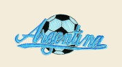 Soccer Ball Argentina Logo Embroidered Iron on or Sew on Patch
