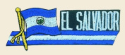 El Salvador Logo Embroidered Iron on or Sew on Patch