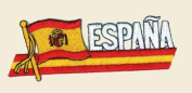 Espana Logo Embroidered Iron on or Sew on Patch