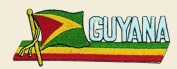 Guyana Logo Embroidered Iron on or Sew on Patch