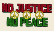 No Justice No Peace Logo Embroidered Iron on or Sew on Patch