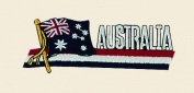 Australia Logo Embroidered Iron on or Sew on Patch