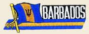Barbados Logo Embroidered Iron on or Sew on Patch