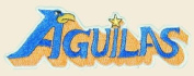 Aguilas Logo Embroidered Iron on or Sew on Patch