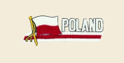 Poland Logo Embroidered Iron on or Sew on Patch