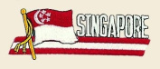 Singapore Logo Embroidered Iron on or Sew on Patch