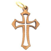 Fleur-de-lis mini-Cross Olive wood Laser