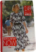 See & Sew 4953 Sewing Pattern Misses Dress Size A 6,8,10,12,14