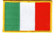 Italy iron-on embroidered patch