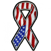 Hot Leathers Amer Flag Ribbon Patch