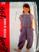 CHILDRENS JUMPSUIT AND BLOUSE SIZE 4-5-6 EASY STITCH 'N SAVE BY MCCALLS PATTERN 5510