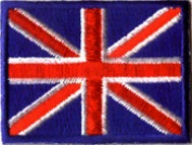 British Flag - 5.1cm x 3.8cm - Embroidered Iron On or Sew On Patch