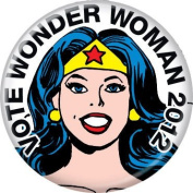 DC Comics Vote For Wonder Woman 2012 Button 82216