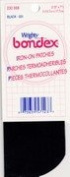 """Mend And Repair with No Sew Iron-On Patches 5x7"""" (12.7cm x 17.78cm) Black Twill 2 pk"""