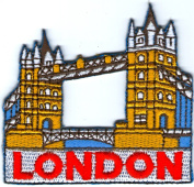 London Bridge Badge Symbol Sign Embroidered Sew on Iron on Patch Iron-on Embroidery