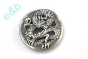 Brand:e & b Gothic Chinese Good Luck Dragon Enamelled Belt Buckle Wt-030
