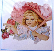 SPRING BONNET Full Colour Iron-On Transfer, Faire-child by Tender-Tees