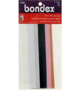 """Bondex Mend And Repair with No Sew Iron-On Patch Fabric Mending Tape 1.25x7"""" (3.175cm x 17.78cm) White, Beige, Black, Navy, Pink, Tan"""