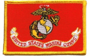 Marines Flag iron-on embroidered patch