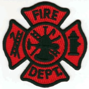 Fire Department iron-on embroidered patch