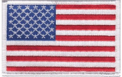 USA (white border) iron-on embroidered patch