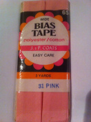 J & P Coats Bias Tape WIDE 3 yards Pink 31
