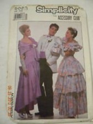 Simplicity Pattern #9083 ONE SIZE ***PROM ACCESSORIES*** Bag, Long Gloves, Bow Tie, Shoe Bows, Cummerbund, Flower, Scarf, Lace Gloves