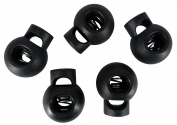 Single Hole Black Round Cord Lock Bomb Stopper Toggles End Spring DIY Findings Fastener Slider Adjuster Supplies