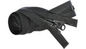 50cm Vislon Zipper Reversible Slide - YKK #5 Moulded Plastic Separating End - Colour Black