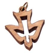 Holy Spirit Olive wood Dove Laser