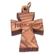 Maltese Olive wood Cross Laser pendant