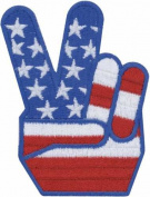 Tees & Novelties Patches For Everyone Iron-On Appliques-Flag Hand 1/Pkg