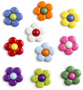 Button Basics Dress It Up -Multi Daisies