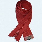 60cm Zipper YKK #3 Thin Nylon-coil Separating ~ Formal Wear ~ 519 Hot Red