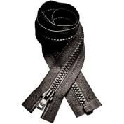 YKK Vislon Zipper #3 Moulded Plastic Separating 60cm - Sweaters - Black