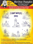 Lighthouses Aunt Martha's Hot Iron Embroidery Transfer