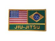 USA America / Brazil Jiu-Jitsu Flags Patch
