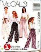 McCall's Pattern #6930 SIZE