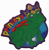 Little Girl Princess Frog Iron On Applique Patch