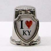 Souvenir Thimble - I love KY - Kentucky