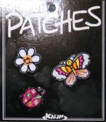Butterfly Daisy Ladybug Iron On Applique Patches