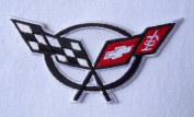 Corvette Racing Car Flags Hat Jacket Embroidered [10cm ] Patch