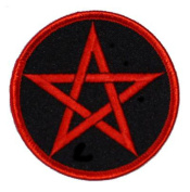 Pentagram Embroidered Patch 7.5CM Dia